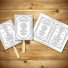 Diy Wedding Program Fan Wedding Program Template Printable Wedding Program Diy Wedding