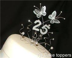 25th anniversary cake toppers 25th wedding anniversary cakes wedding ceremony anniversary