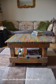 Reclaimed Boat Wood Furniture Free Uk Shipping Rustic Reclaimed Wood Coffee Side Table In A