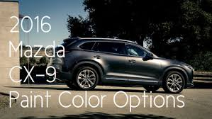 2016 mazda cx 9 color options