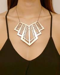 leather gold necklace images Lasercut art deco statement leather necklace jewelry ideas jpg