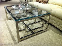 chrome glass end tables coffee tables ideas modern chrome and glass coffee table ikea