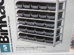 Storage Bin Shelves by Whalen 5 Tier Bin Rack