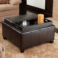 incredible storage ottoman with tray lounge ii storage ottoman