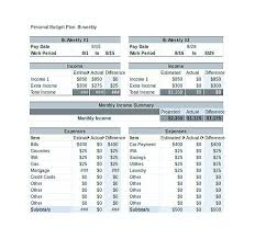 weekly budget template spreadsheet for personal financial planning