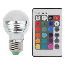 color changing light bulb with remote 16 color remote rgb led light bulb remote control 3w