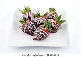 White Chocolate Dipped Strawberries Chocolate Dipped Strawberries White Chocolate Drizzle Stock Photo
