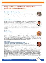 Cabinet Committee On Security India India Csr Summit 2016 Brochure
