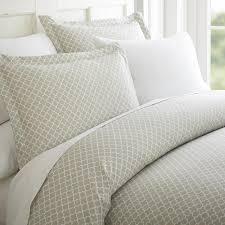 quatrefoil patterned 3 piece duvet cover set u2013 linens and hutch