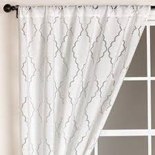 White Window Curtains Window Treatments White Lattice Burnout Curtain At World Market