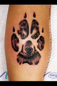 and paw print