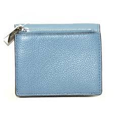 michael kors light blue wallet michael kors mercer leather carryall card case wallet clutch denim