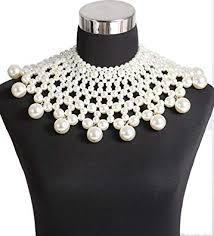 bridal choker necklace images Boderier egyptian pearl collar necklace statement jpg