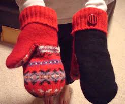 sweater mittens fleece lined upcycled woolicious mittens 6 steps