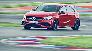 mercedes a 45 amg 4matic 2016 mercedes amg a 45 4matic test on racetrack