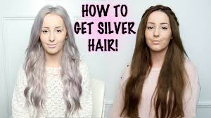 putting silver on brown hair how to silver hair tutorial by tashaleelyn youtube