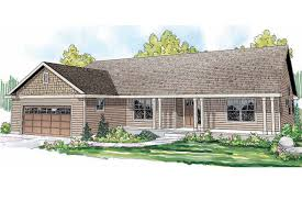 ranch house plans with front and back porch