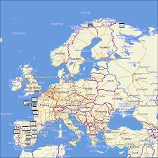 Ces Map Tramsoft Topoactive Western And Eastern Europe English