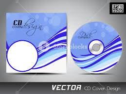 vector illustration of cd cover design template royalty free