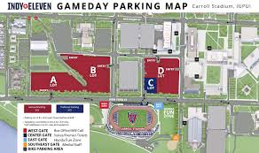 Central Michigan University Map by Parking U0026 Tailgating Info Indy Eleven