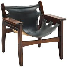 Bossanova Contemporary Leather Dining Room Sergio Rodrigues Black Leather Kilin Lounge Chair For Sale At