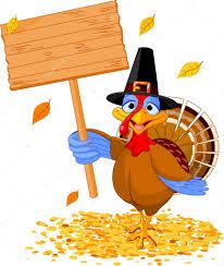 thanksgiving turkey holding sign stock vector dazdraperma