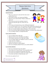 how to write nanny experience on resume nanny interview questions grab your printable checklist babies nanny interview questions grab your printable checklist