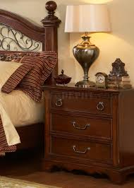 Liberty Furniture Industries Bedroom Sets Brown Cherry Finish Traditional Poster Bed W Options