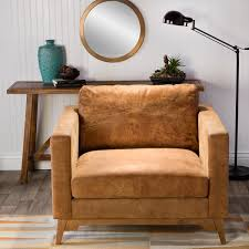 filmore oversized tan italian leather club chair free shipping