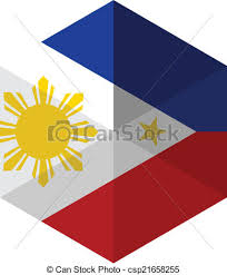 philippines flag hexagon flat icon button clipart vector search