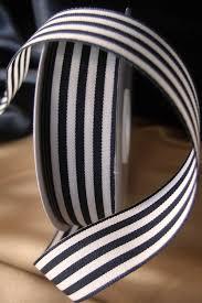 black and white striped ribbon ivory striped ribbon 7 8 x 25 yards