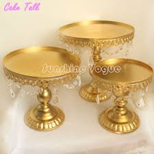 gold cake stands aliexpress buy gold cake stand metal iron pendant