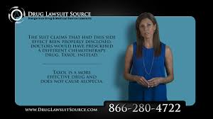 taxotere tv commercials hair loss lawsuits