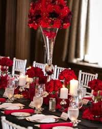 ideas for centerpieces for wedding reception tables red black and white wedding reception red roses large center