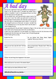 esl reading comprehension worksheets worksheets