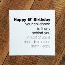 funny 18th birthday card u0027childhood is behind you u0027 craft