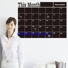 month plan calendar chalk board chalkboard wall stickers