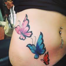 butterfly on side of stomach i plan on adding later like