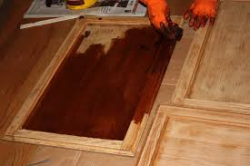 Restaining Kitchen Cabinets Darker How To Refinish Kitchen Cabinets Without Sanding Home Decoration