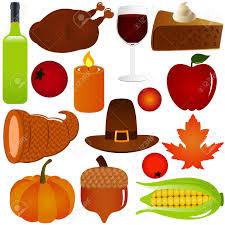 thanksgiving season thanksgiving fall season vector icons isolated on white royalty