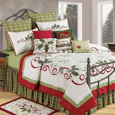 Bedspreads King Amazon Com C U0026 F Enterprises Holiday Garland Holiday Quilt Home
