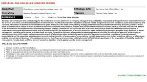 oil and gas sales manager cover letter u0026 resume