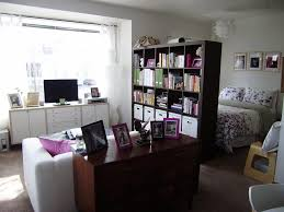 student bedroom in apartment home design comes with women