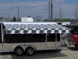 16 Foot Awning 7x16 Enclosed Motorcycle Cargo Trailer A C Unit W Awning Toy
