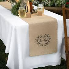true lov burlap table runner 14in x 120in