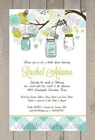 jar invitations jar bridal shower invitations