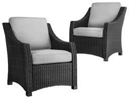home depot patio furniture sets belmont 4 piece black wicker patio conversation furniture set