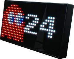 Video Game Desk by Pac Man Premium Led Desk Clock Game Room Guys