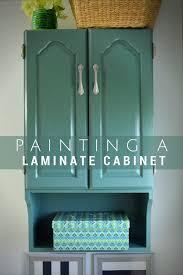 painted bathroom storage cabinet