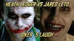 best joker halloween costumes joker s laugh comparison heath ledger vs jared leto youtube